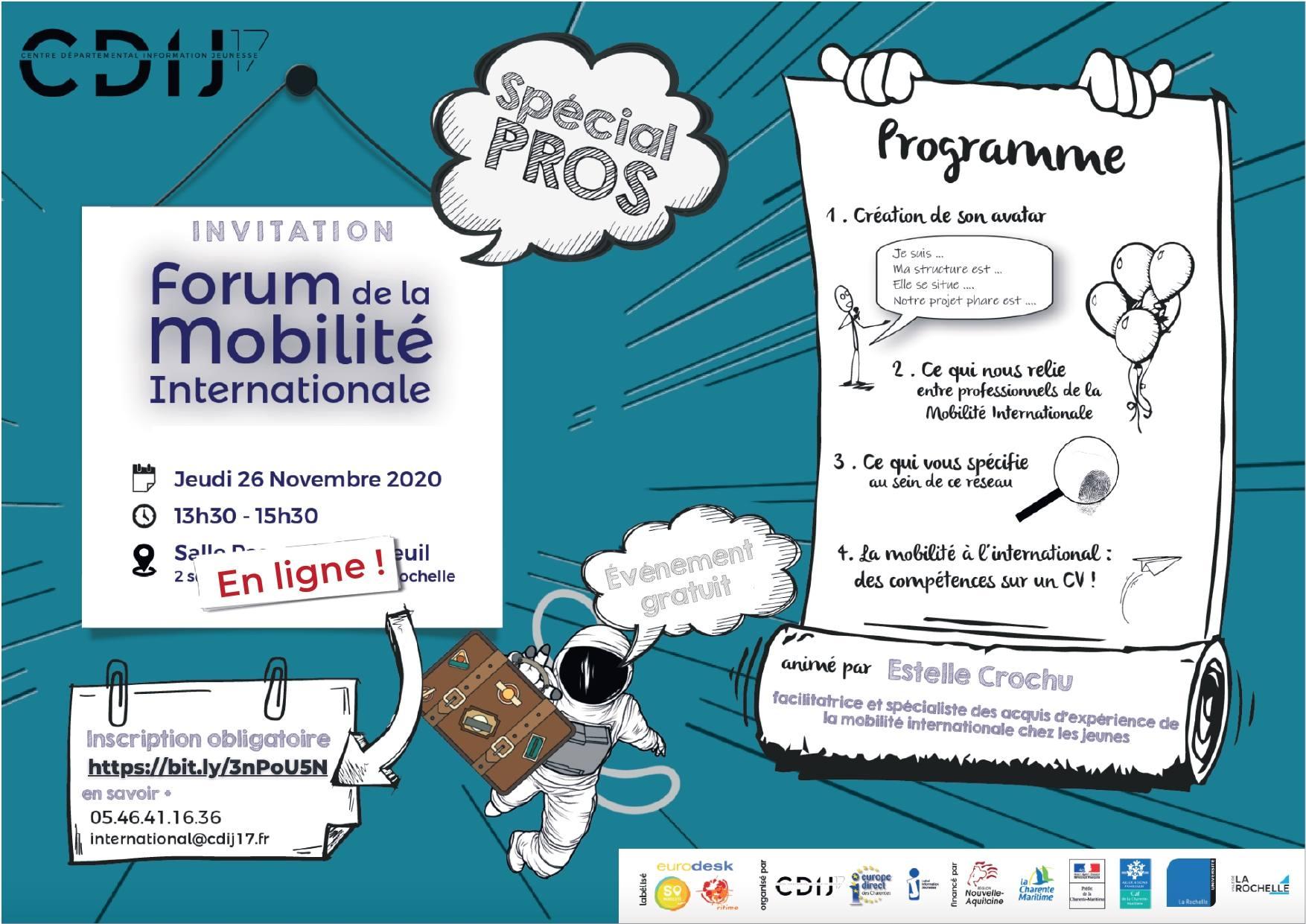 Forum de la Mobilité Internationale à destination des professionnels 25 fév 2021