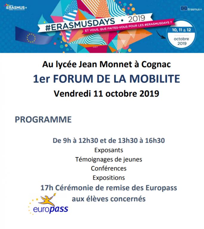 Deux activités dans le cadre des Erasmus days 2019