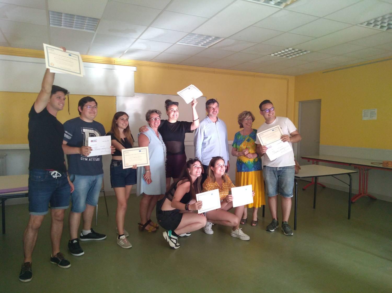 Cérémonie remise certificats stagiaires Erasmus espagnols